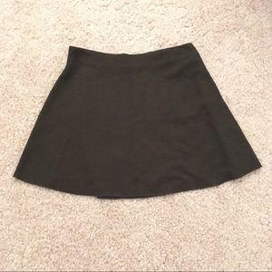 Zara Trafaluc Brown/Green Knit Skirt - Size Large